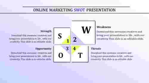 Editable SWOT analysis template PowerPoint