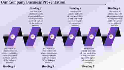 Business presentation PPT-parallel model