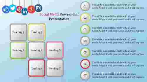 Infographics Social Media Powerpoint Template