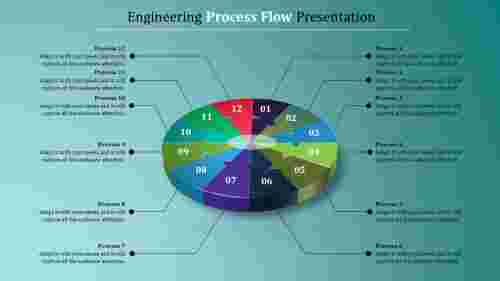 Infographic Powerpoint Process Flow Template.