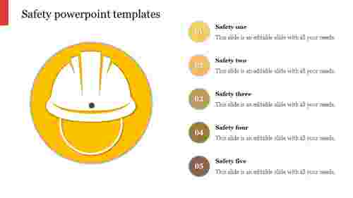 Helmet model safety powerpoint templates