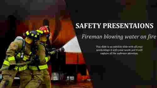 Safety powerpoint templates Presentation-Fire Rescue Diagram