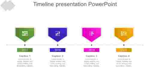 Arrow model timeline presentation powerpoint