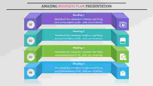 Infographic business plan presentation-Layered Horizondal