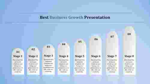 business growth presentation powerpoint with stages