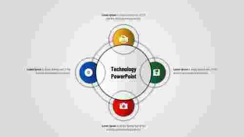 Technology PowerPoint presentation - Circle model