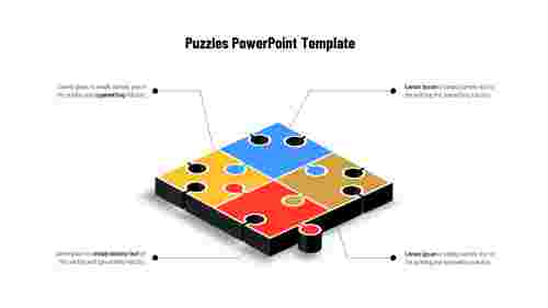 PuzzlePowerPointtemplate-Fourpieces