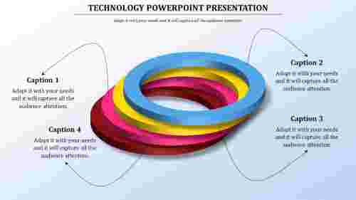Technology powerpoint templates - 3D Rings