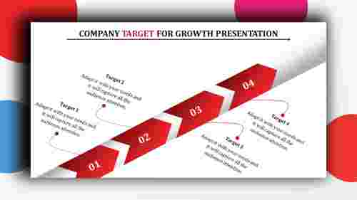 Arrow design company target powerpoint presentation