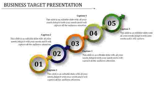 Business Target Powerpoint Templates - Chain Design