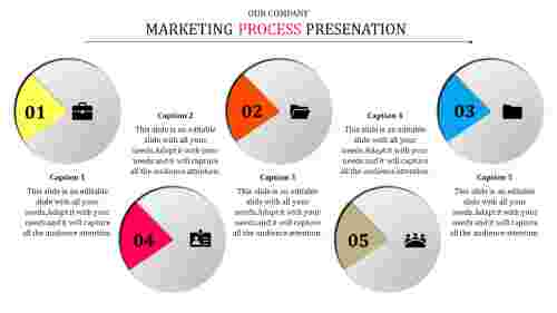 Business Marketing Strategy Template With Circle Shaped