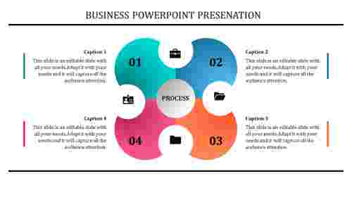 business powerpoint templates - Puzzle model