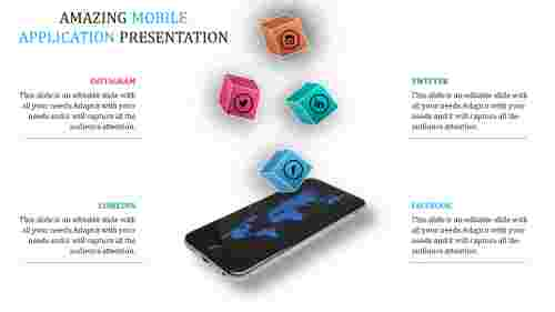mobile app powerpoint presentation tem