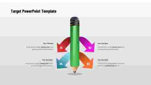 TargetPowerPointtemplate-PencilShape