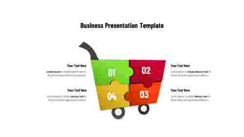 Business presentation templates - Puzzles Shape