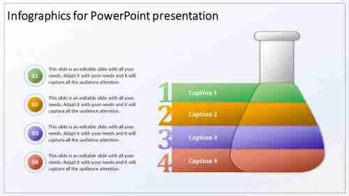 Conical Flask Infographics For Powerpoint Presentation