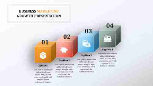 CubebusinessgrowthPPTtemplates