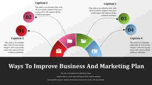 Business And Marketing Plan Template-Semicircle Model