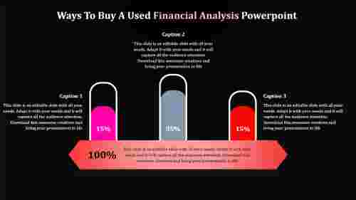 financial analysis powerpoint with dark background