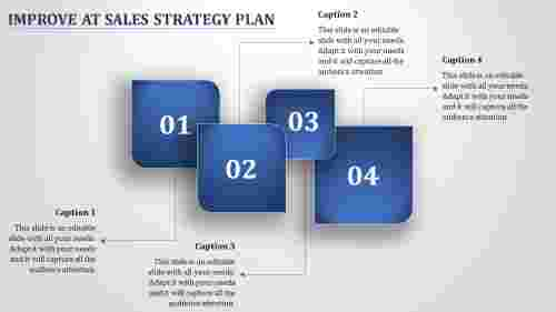 Sales Strategy Plan - Diagonal Rounded Corners Shape