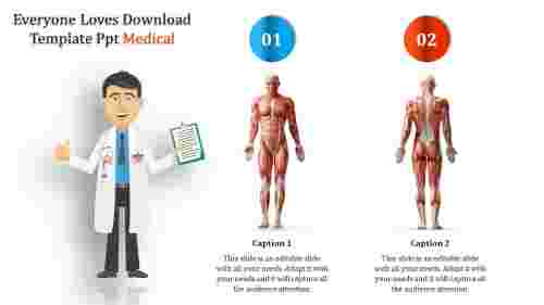 Download template PPT medical science