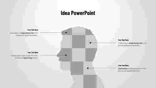 PowerPoint ideas design - Human head