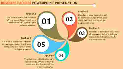 Business process template powerpoint with creative design