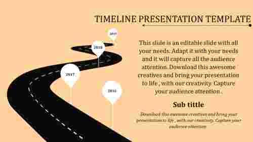timeline presentation template path model