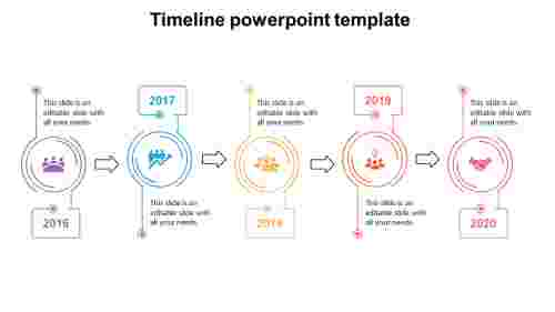 Serpentine shape DownloadProject Timeline Powerpoint Template