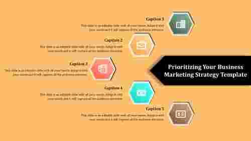 business marketing strategy template - Hexagon shaps