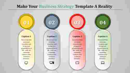 business strategy template with innovative shapes