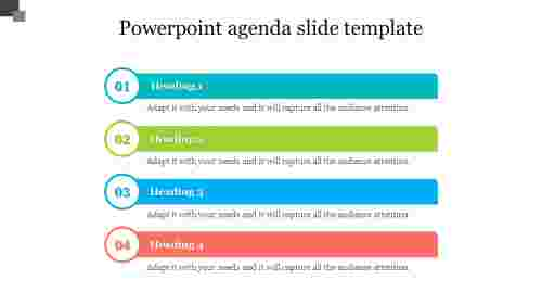 Editable powerpoint agenda slide template design
