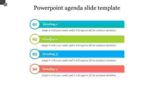 Editable powerpoint agenda slide template design