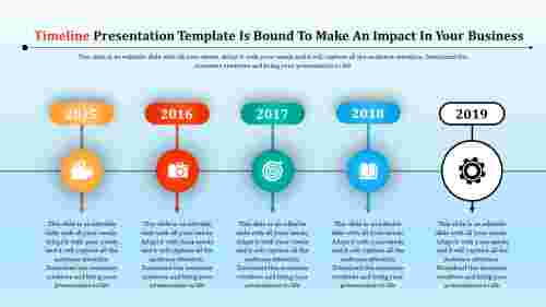 attached timeline presentation template