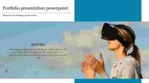 digital portfolio template powerpoint