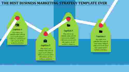 Zigzag business marketing strategy template