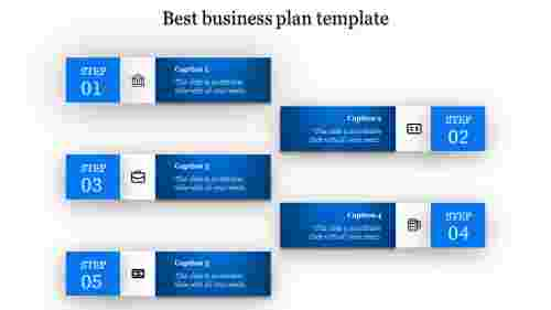 A five noded best business plan template ppt