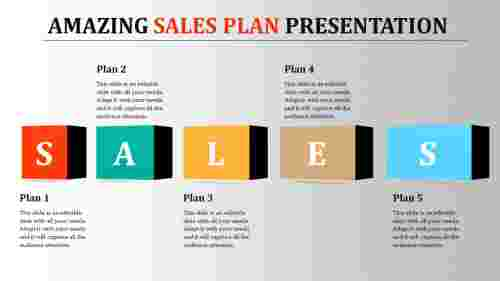 Simple Sales Plan Presentation PPT