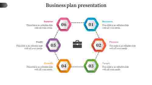 business plan presentation-Hexagon shape