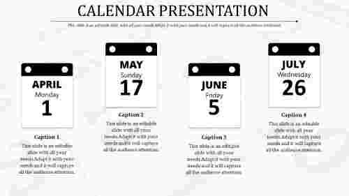 Calendar%20Presentation%20Template%20With%20Light%20Color%20Background