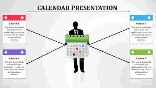 Calendar%20PPT%20Slide%20Template%20Designs%20With%20Four%20Node