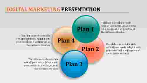 Digital Marketing Presentation PPT with water ball model