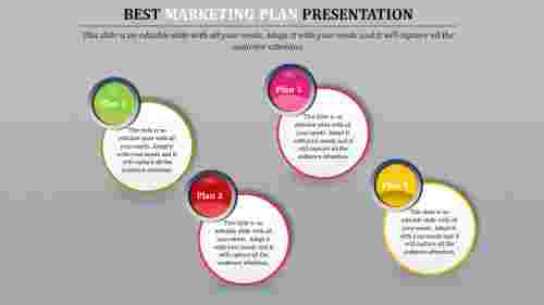 Best Marketing Plan Template with circle shaped