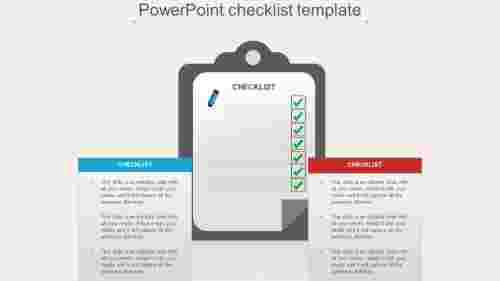 Infographics design PowerPoint checklist template