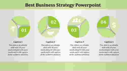Circle business strategy PowerPoint template