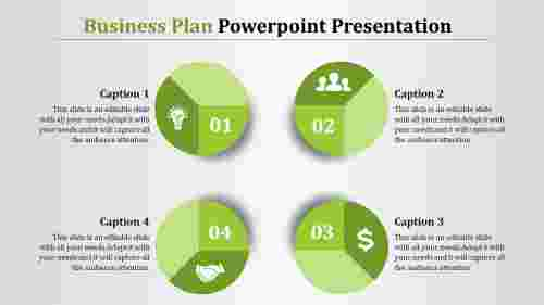 Business Plan Powerpoint Presentation-Circle Pie Model