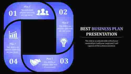Best Business Plan Presentation with Dark Background