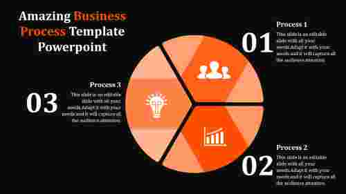 Business Process Template Powerpoint With Dark background