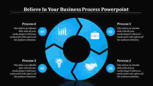 Business Process Powerpoint with Dark background
