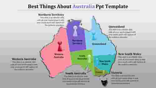 Australia map ppt template-Best Things About Australia Ppt Template